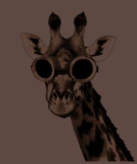 Jirafa con las gafas de las gafas de sol de t-shirt