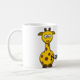 Jirafa conocida taza de café