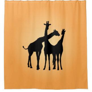 Jirafa coqueta cortina de baño