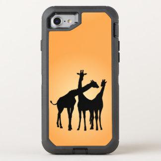 Jirafa coqueta funda OtterBox defender para iPhone 7
