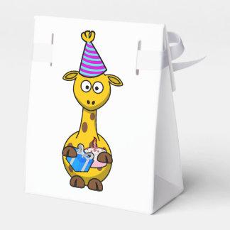 Jirafa de la fiesta de cumpleaños cajas para regalos