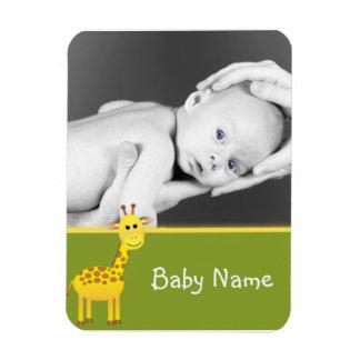 Jirafa de la foto del bebé imán flexible