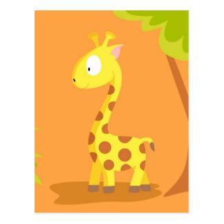 Jirafa de mi serie de los animales del mundo tarjeta postal