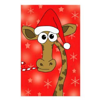 Jirafa de Navidad - rojo Papeleria De Diseño