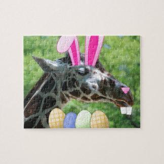 Jirafa de Pascua Rompecabezas Con Fotos
