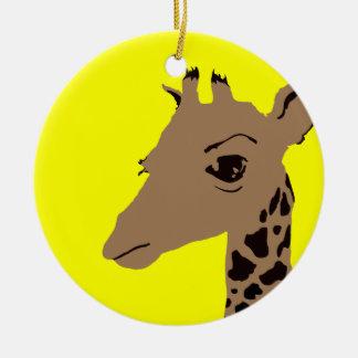 jirafa adorno redondo de cerámica