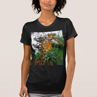 Jirafa del áloe tee shirt