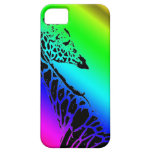 Jirafa del arco iris iPhone 5 carcasas
