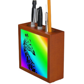 Jirafa del arco iris portalápices