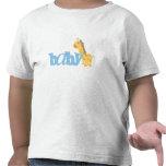 Jirafa del bebé (azul) camiseta