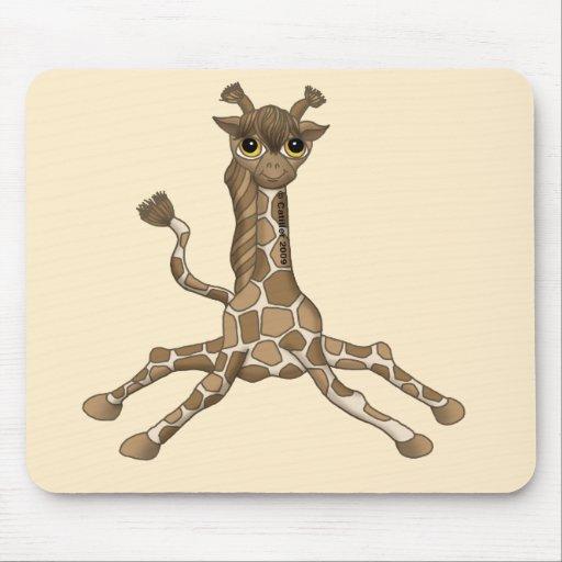 Jirafa del bebé mousepad