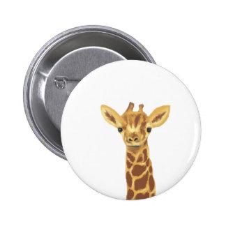 jirafa del bebé pin redondo 5 cm