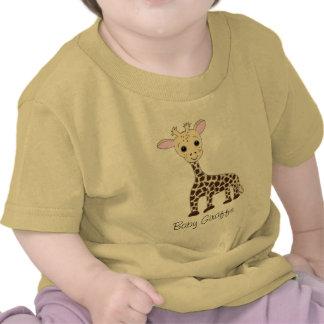 Jirafa del bebé camiseta