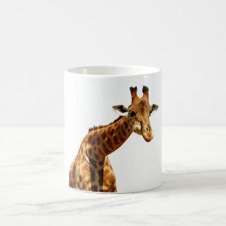 Jirafa del bonito de la taza