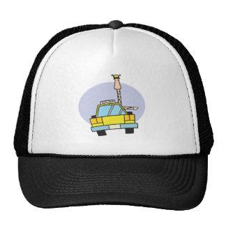 jirafa del conductor de taxi gorra