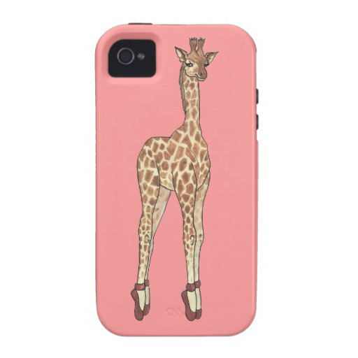 jirafa del dedo del pie de la extremidad vibe iPhone 4 funda