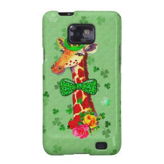 Jirafa del día de St Patrick Galaxy S2 Carcasas