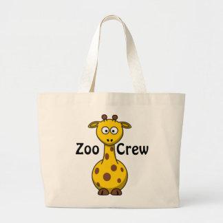 Jirafa del equipo del parque zoológico bolsas lienzo