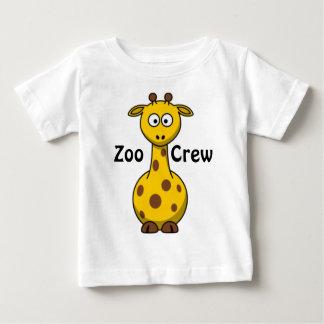 Jirafa del equipo del parque zoológico playera para bebé