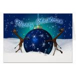Jirafa del navidad con la chuchería gigante