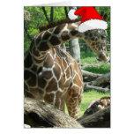 Jirafa del navidad felicitación
