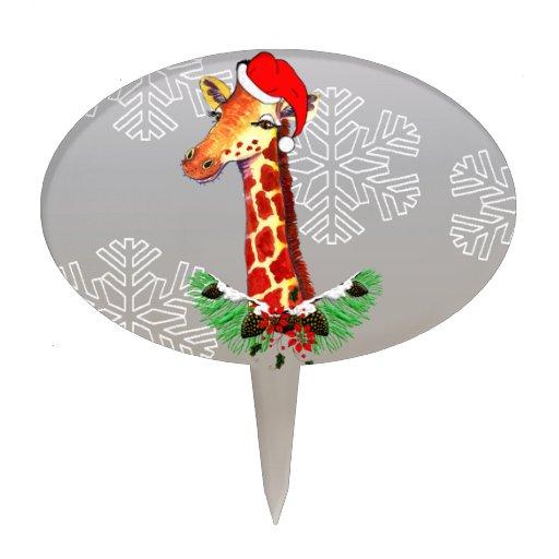 Jirafa del navidad figura para tarta