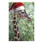Jirafa del navidad papelería personalizada