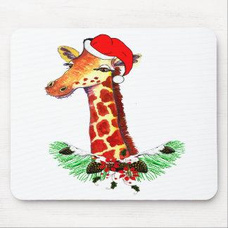 Jirafa del navidad tapetes de raton