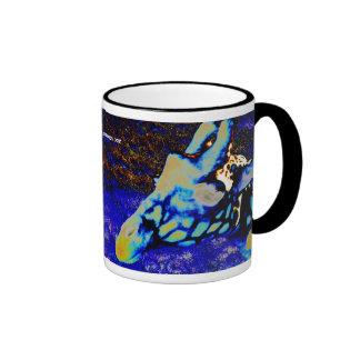 Jirafa del terciopelo taza de café