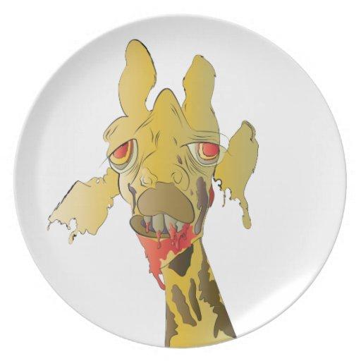Jirafa del zombi plato