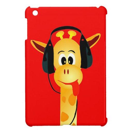jirafa divertida con estilo cómico de los auricula