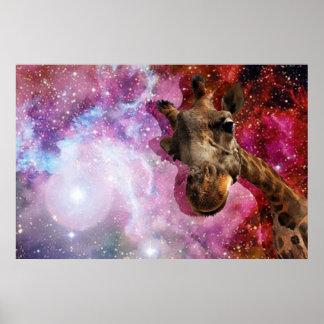 ¡Jirafa… en espacio?! Poster