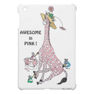 Jirafa en rosa