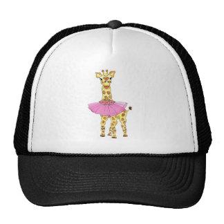 Jirafa en tutú gorras