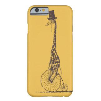 Jirafa en una bicicleta funda de iPhone 6 barely there