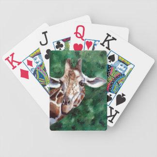 Jirafa estoy para arriba aquí baraja cartas de poker