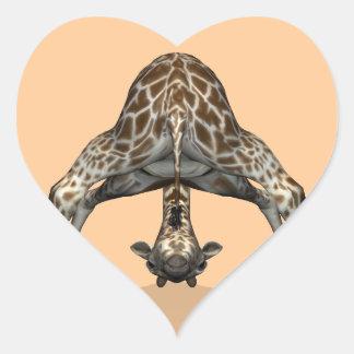 Jirafa flexible pegatina en forma de corazón