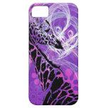Jirafa florecida púrpura