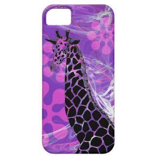 Jirafa florecida púrpura II - caso del iPhone 5/5S iPhone 5 Case-Mate Funda