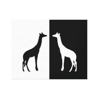 jirafa impresión en lienzo