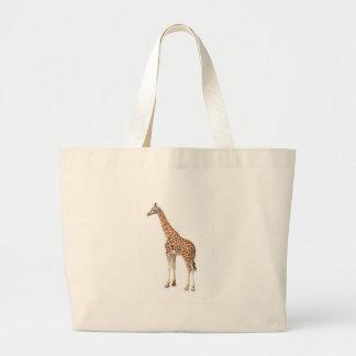 Jirafa larga del cuello bolsas lienzo
