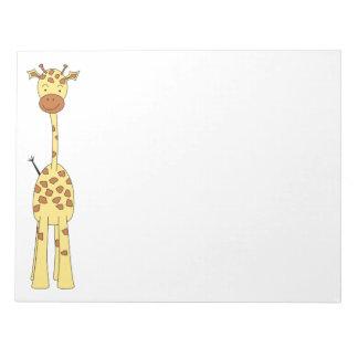 Jirafa linda alta. Animal del dibujo animado Blocs