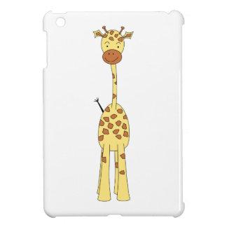 Jirafa linda alta. Animal del dibujo animado iPad Mini Carcasas