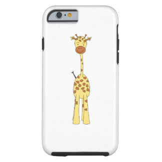 Jirafa linda alta. Animal del dibujo animado Funda Resistente iPhone 6