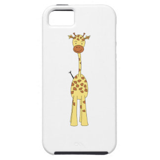 Jirafa linda alta. Animal del dibujo animado iPhone 5 Carcasa