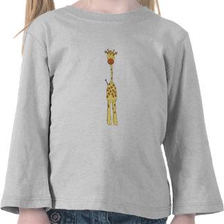 Jirafa linda alta. Animal del dibujo animado Camiseta