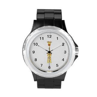 Jirafa linda alta. Animal del dibujo animado Relojes De Pulsera
