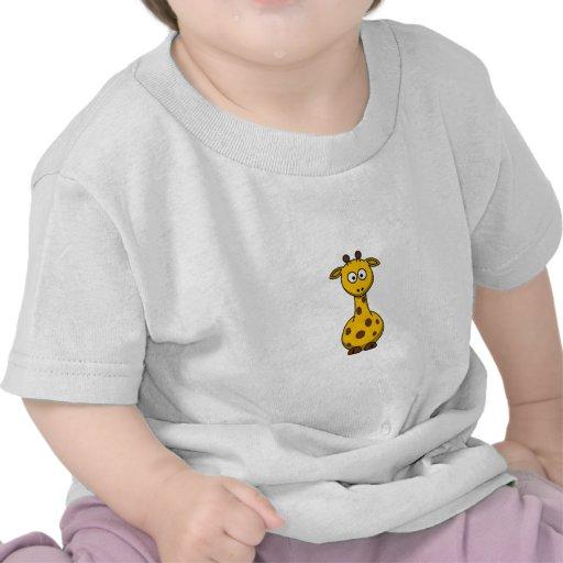 Jirafa linda Clipart del dibujo animado Camisetas