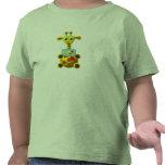 Jirafa linda con el Goldfish Camisetas