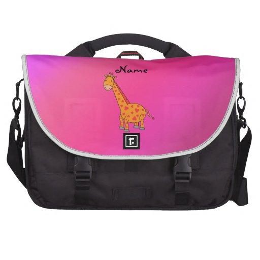 Jirafa linda conocida personalizada bolsas para portatil